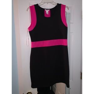 XL Candie's Hot Pink and Black Bodycon dress